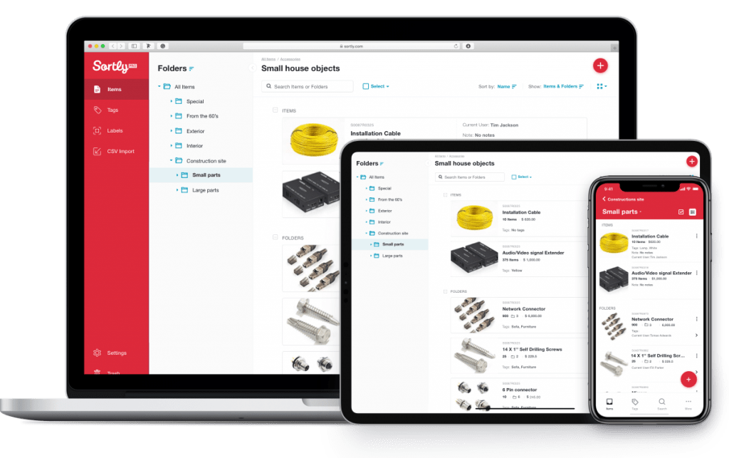 Auto parts are tracked using inventory software on a variety of devices.