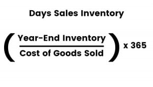 Formula for days sales inventory
